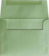 "A-2 Green Fairway Metallic Envelopes (4 3/8"" x 5 3/4"") - Paperandmore.com"