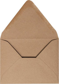 "A-7 Brown Kraft Recycled Euro Flap Envelopes (5 1/4"" x 7 1/4"") (Discontinued)"