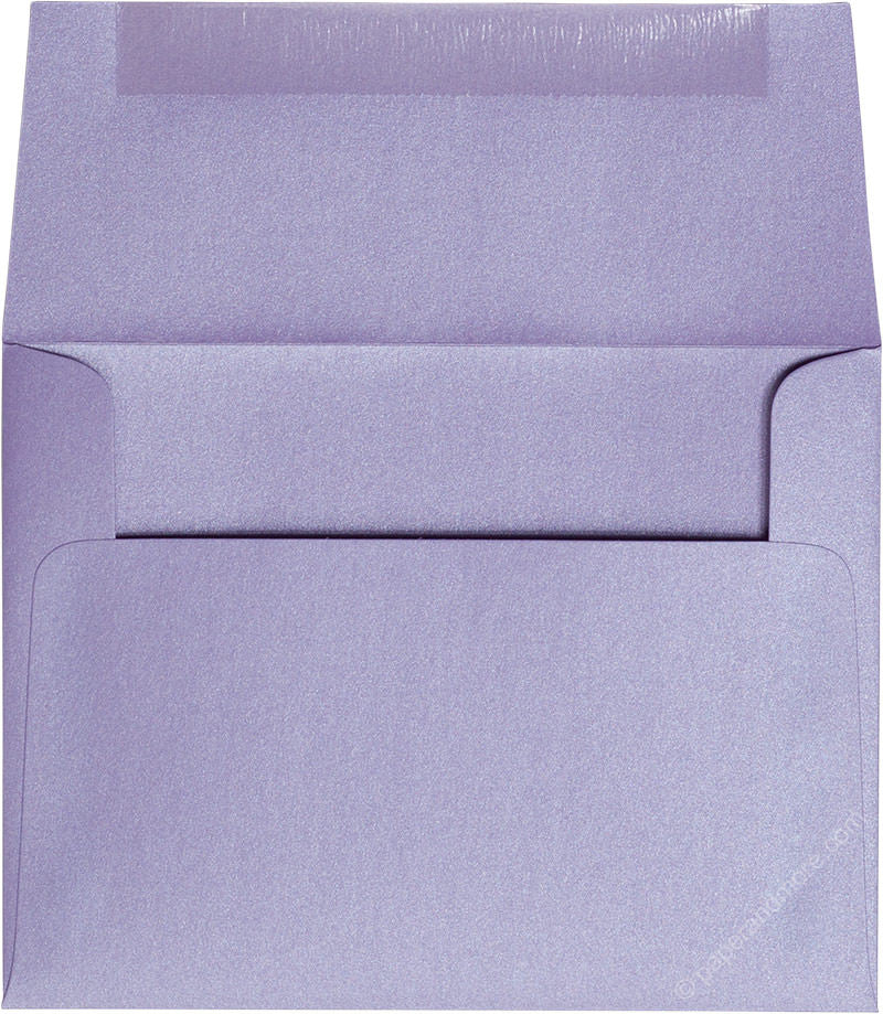 "A-2 Lavender Metallic Envelopes (4 3/8"" x 5 3/4"") - Paperandmore.com"
