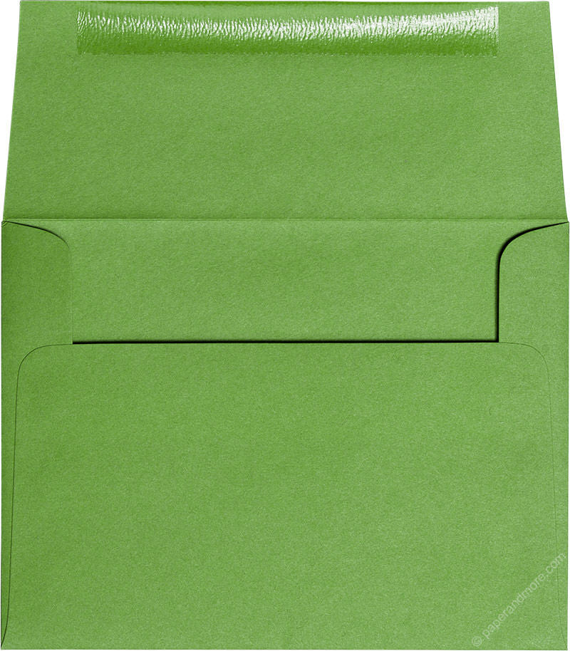"A-2 Meadow Green Solid Envelopes (4 3/8"" x 5 3/4"") - Paperandmore.com"