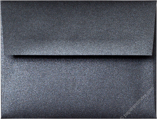 "A-2 Onyx Black Metallic Envelopes (4 3/8"" x 5 3/4"") - Paperandmore.com"
