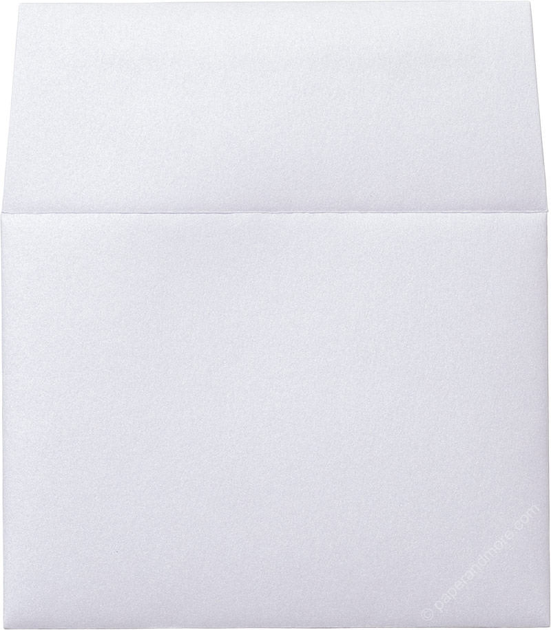 "A-2 Pearl White Metallic Envelopes (4 3/8"" x 5 3/4"")"