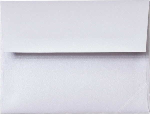 "A-2 Pearl White Metallic Envelopes (4 3/8"" x 5 3/4"") - Paperandmore.com"