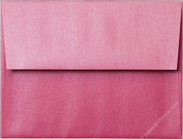 "A-2 Pink Azalea Metallic Envelopes (4 3/8"" x 5 3/4"") - Paperandmore.com"