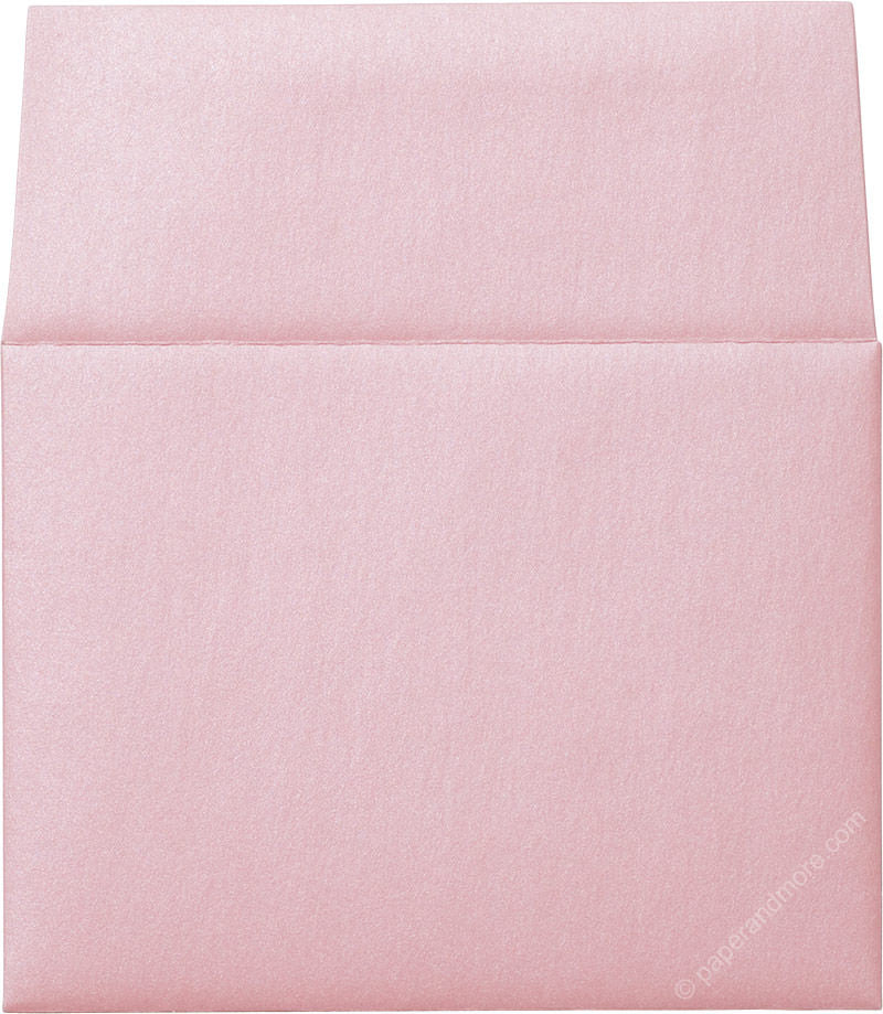 "A-2 Rose Pink Metallic Envelopes (4 3/8"" x 5 3/4"") - Paperandmore.com"