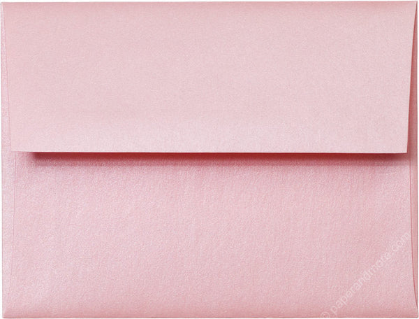 A-2 Rose Pink Metallic Envelopes (4 3/8