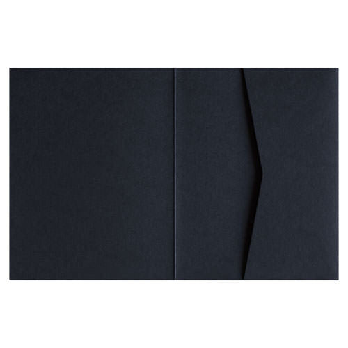 Black Solid 100# Pocket Invitation Card, A2 Sierra - Paperandmore.com