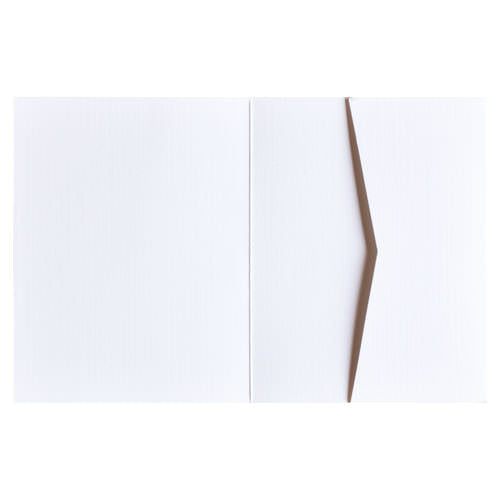 Bright White 80# Linen Pocket Invitation Card, A2 Sierra - Paperandmore.com