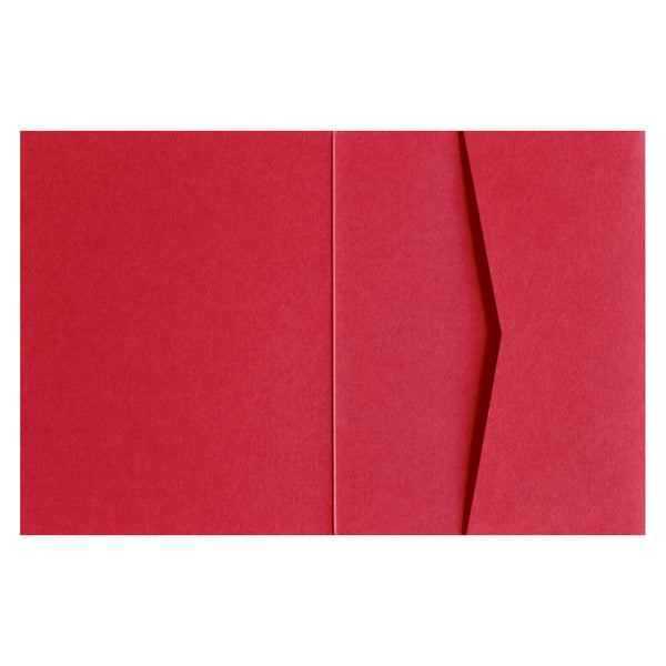 Cherry Red 100# Solid Pocket Invitation Card, A2 Sierra - Paperandmore.com