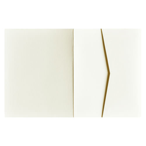 Classic Natural Cream 100# Solid Pocket Invitation Card, A2 Sierra - Paperandmore.com
