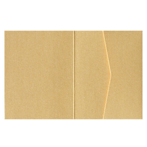 Gold Metallic Pocket Invitation Card, A2 Sierra - Paperandmore.com