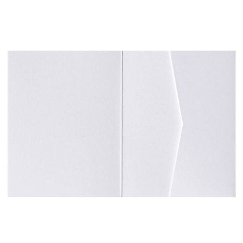 Pearl White Metallic Pocket Invitation Card, A2 Sierra - Paperandmore.com