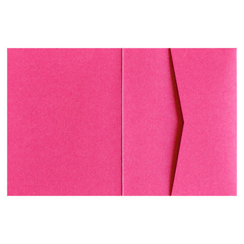 Pink Azalea 105# Metallic Pocket Invitation Card, A2 Sierra - Paperandmore.com