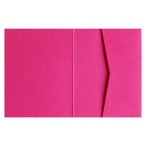 Razzle Pink 100# Solid Pocket Invitation Card, A2 Sierra