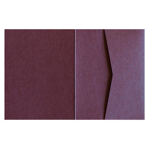 Ruby Purple 105# Metallic Pocket Invitation Card, A2 Sierra - Paperandmore.com