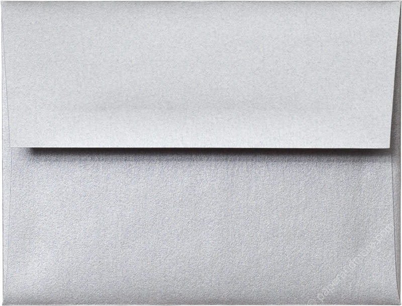 "A-2 Silver Metallic Envelopes (4 3/8"" x 5 3/4"") - Paperandmore.com"