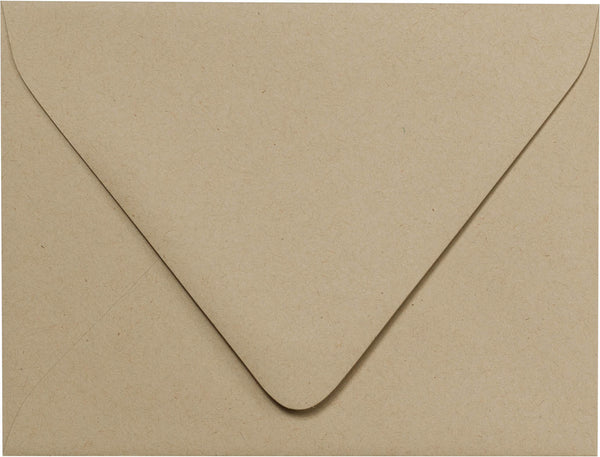 "A-2 Taupe Brown Fiber Recycled Euro Flap Envelopes (4 3/8"" x 5 3/4"") - Paperandmore.com"