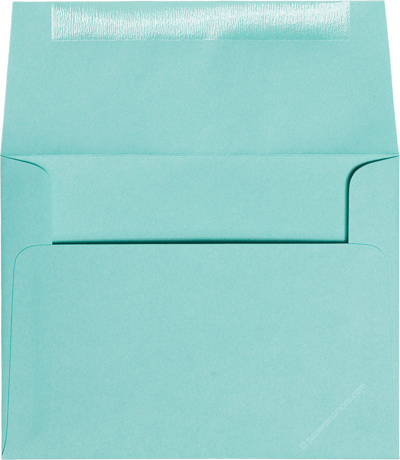 "A-2 Tiffany Blue Solid Envelopes (4 3/8"" x 5 3/4"") - Paperandmore.com"
