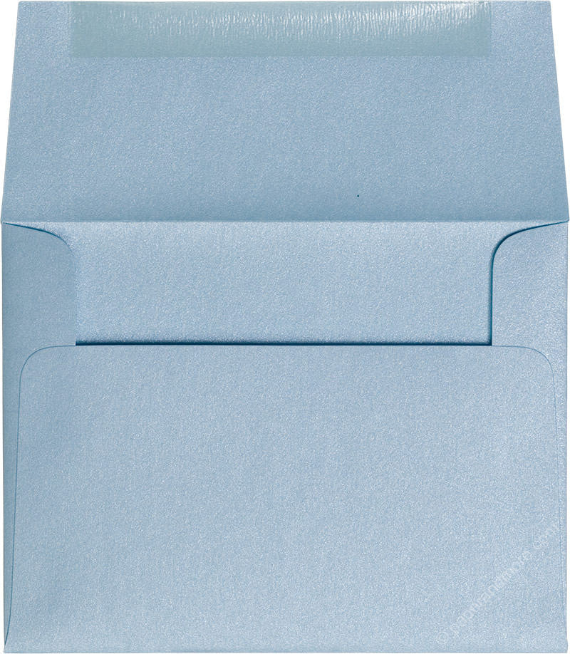 "A-2 Topaz Blue Metallic Envelopes (4 3/8"" x 5 3/4"") - Paperandmore.com"