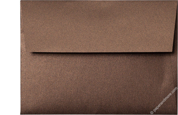 "A-6 Bronze Brown Metallic Envelopes (4 3/4"" x 6 1/2"") - Paperandmore.com"