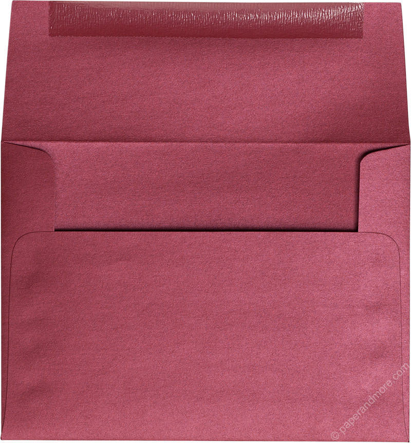 "A-6 Crimson Red Metallic Envelopes (4 3/4"" x 6 1/2"") - Paperandmore.com"