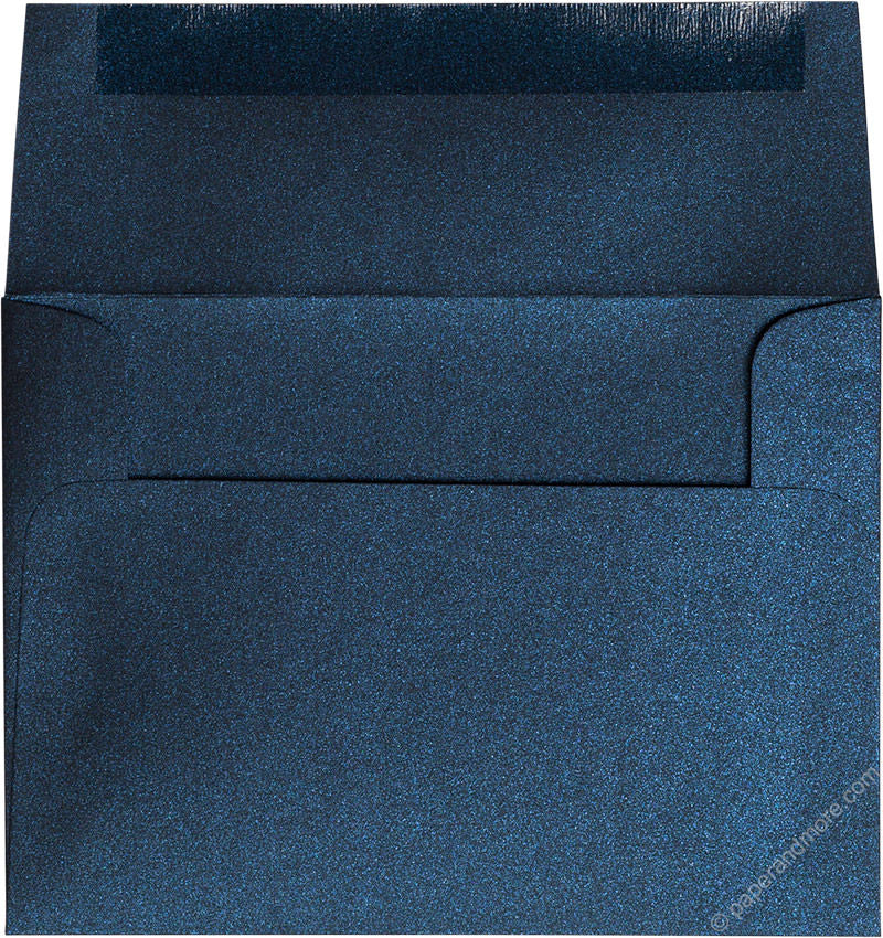 "A-6 Dark Blue Metallic Envelopes (4 3/4"" x 6 1/2"") - Paperandmore.com"