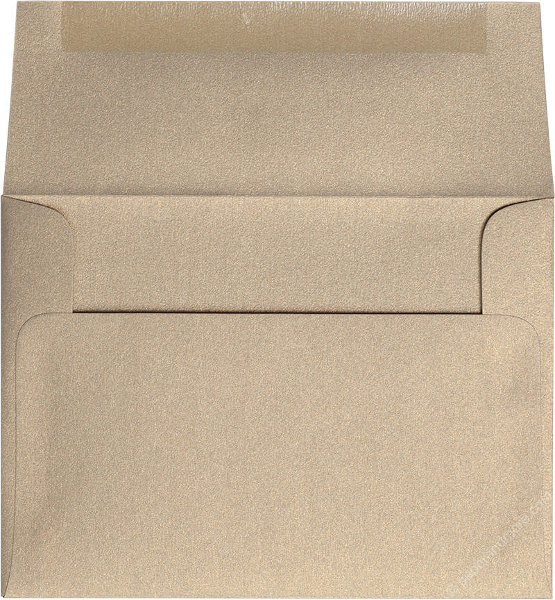 "A-6 Gold Leaf Metallic Envelopes (4 3/4"" x 6 1/2"") - Paperandmore.com"