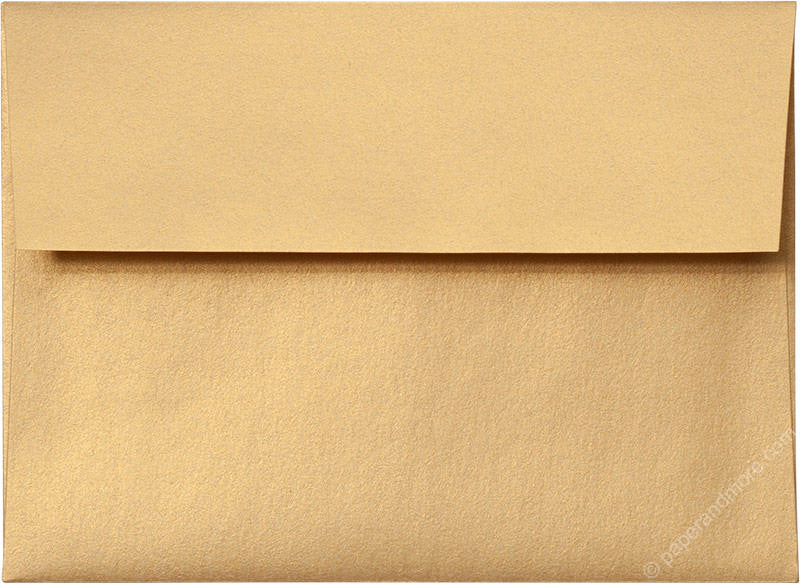 "A-6 Gold Metallic Envelopes (4 3/4"" x 6 1/2"") - Paperandmore.com"
