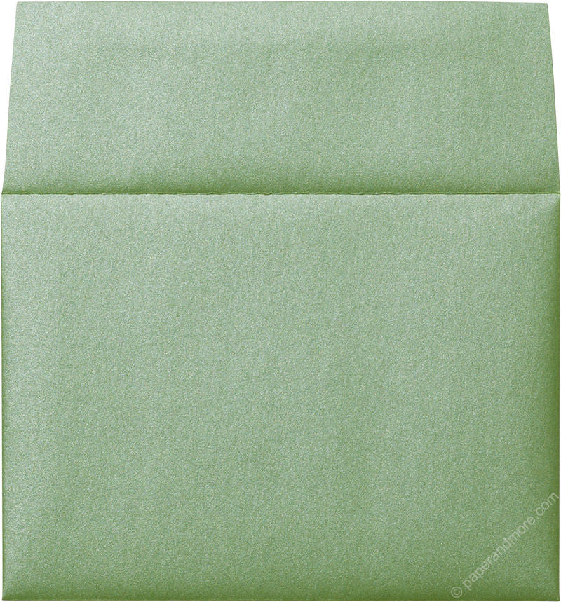 "A-6 Green Fairway Metallic Envelopes (4 3/4"" x 6 1/2"")"