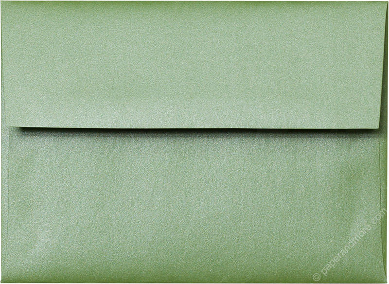 "A-6 Green Fairway Metallic Envelopes (4 3/4"" x 6 1/2"") - Paperandmore.com"