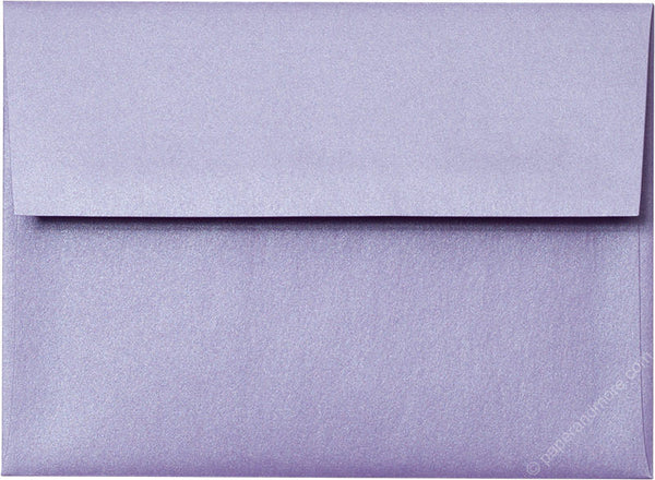 "A-6 Lavender Metallic Envelopes (4 3/4"" x 6 1/2"") - Paperandmore.com"