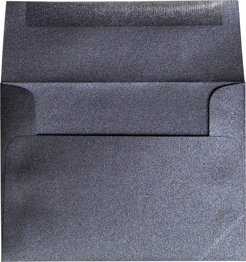 "A-6 Onyx Black Metallic Envelopes (4 3/4"" x 6 1/2"") - Paperandmore.com"