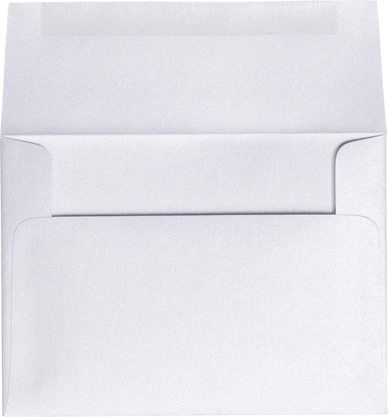 "A-6 Pearl White Metallic Envelopes (4 3/4"" x 6 1/2"")"