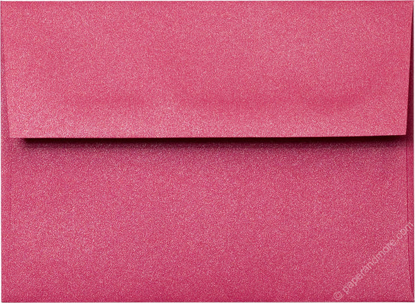 A-6 Pink Azalea Metallic Envelopes (4 3/4