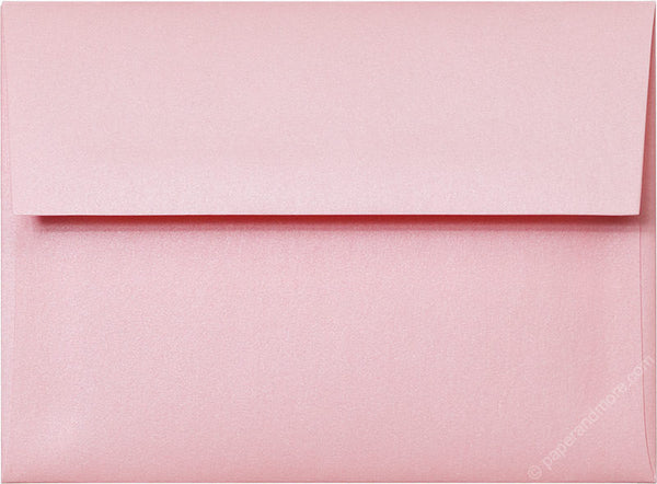 A-6 Rose Pink Metallic Envelopes (4 3/4
