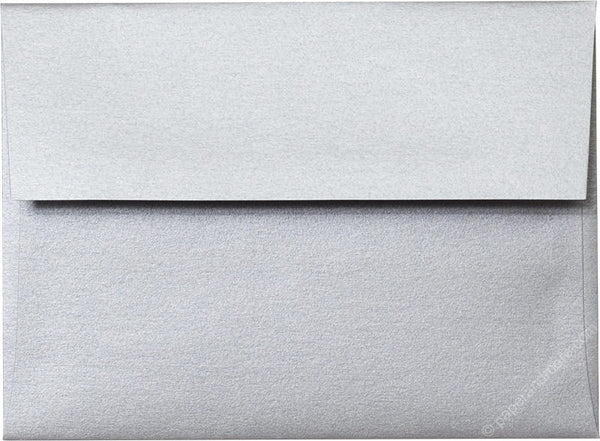 "A-6 Silver Metallic Envelopes (4 3/4"" x 6 1/2"") - Paperandmore.com"