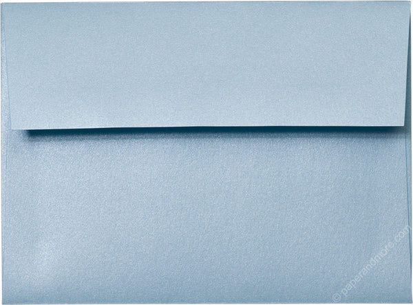 "A-6 Topaz Blue Metallic Envelopes (4 3/4"" x 6 1/2"") - Paperandmore.com"