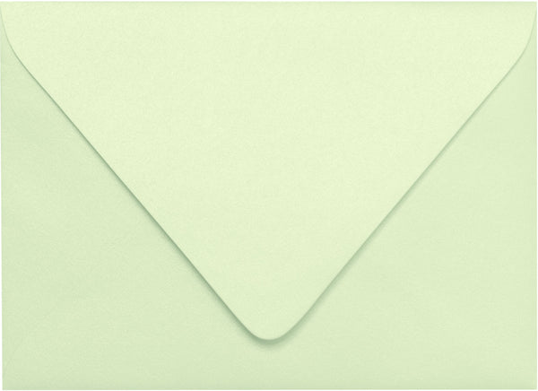 A-7 Aloe Mint Green Metallic Euro Flap Envelopes (5 1/4