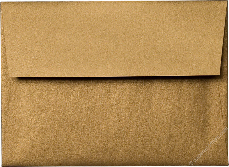 "A-7 Antique Gold Metallic Envelopes (5 1/4"" x 7 1/4"") - Paperandmore.com"