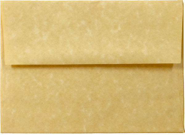 "A-7 Antique Gold Parchment Envelopes (5 1/4"" x 7 1/4"") - Paperandmore.com"