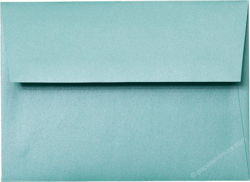 "A-7 Aqua Lagoon Metallic Envelopes (5 1/4"" x 7 1/4"") - Paperandmore.com"