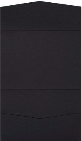 Black Solid Pocket Invitation Card, A7 Atlas - Paperandmore.com
