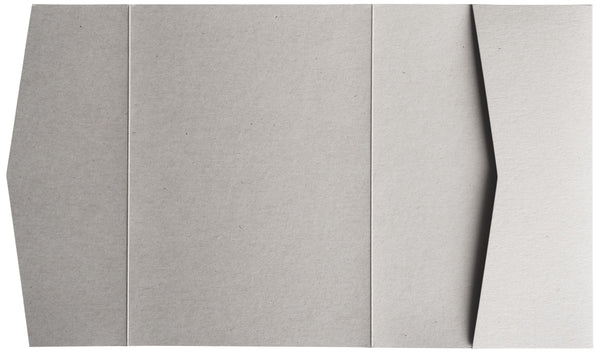Concrete Gray Kraft 100 lb Raw Recycled Pocket Invitation Card, A7 Atlas