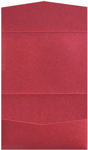 Crimson Red Metallic Pocket Invitation Card, A7 Atlas - Paperandmore.com