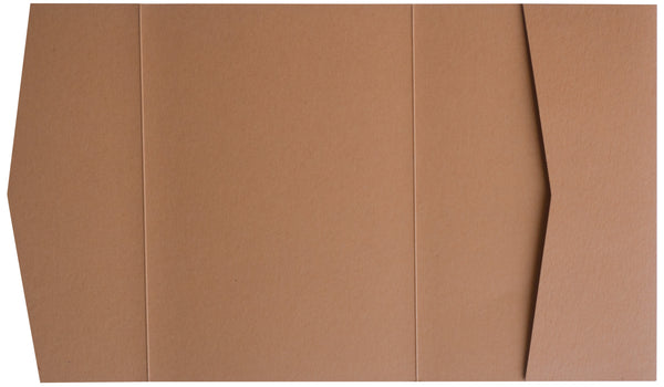 Kraft Brown 100 lb Raw Recycled Pocket Invitation Card, A7 Atlas - Paperandmore.com
