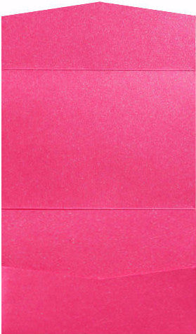 Pink Azalea Metallic Pocket Invitation Card, A7 Atlas - Paperandmore.com