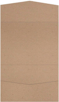 Taupe Brown Recycled Pocket Invitation Card, A7 Atlas - Paperandmore.com