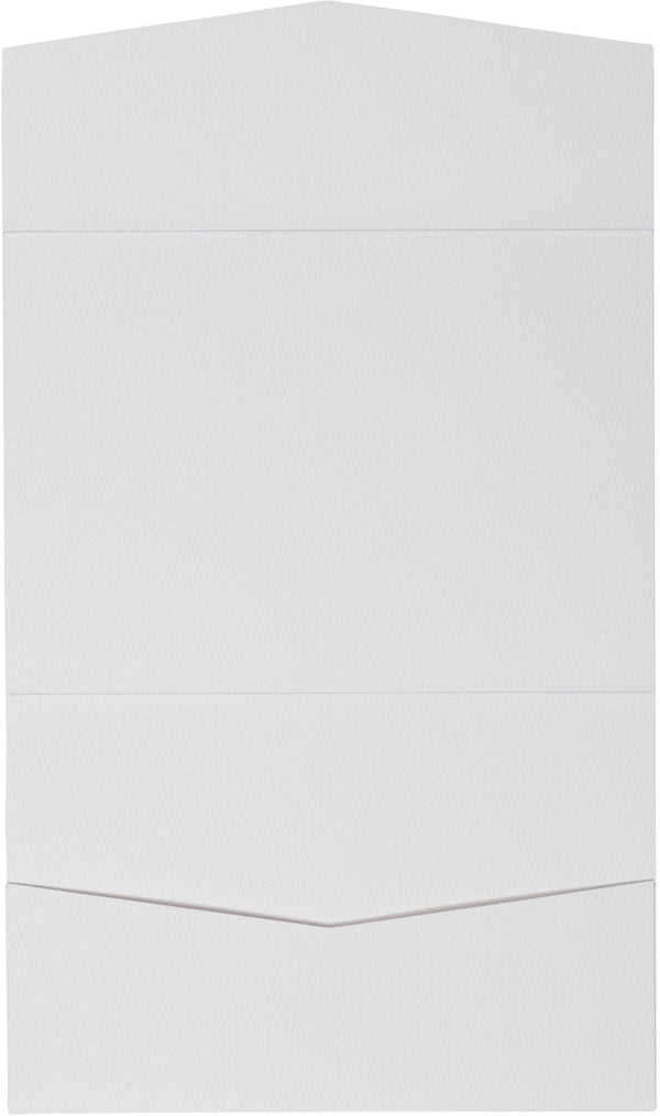 A7 Atlas Classic Avalanche White Felt Pocket Folder