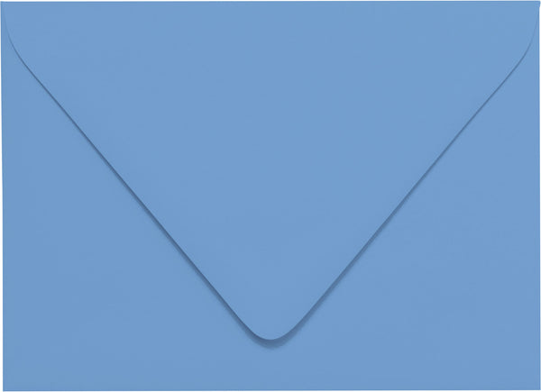 A-7 Azure Blue Solid Euro Flap Envelopes