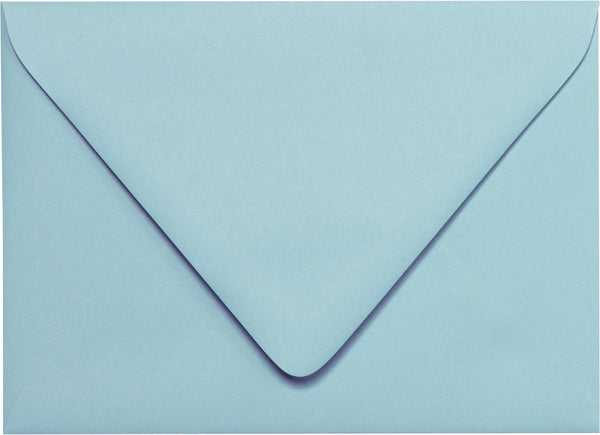 A-7 Baltic Sea Blue Solid Euro Flap Envelopes